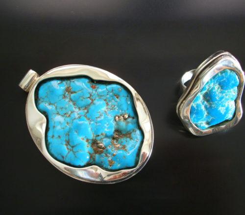 Biżuteria artystyczna z kamieni naturalnych i srebra