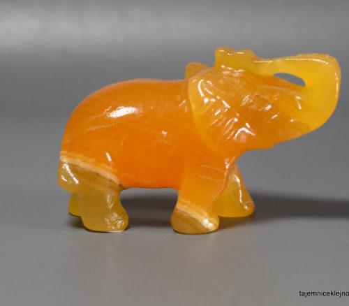 słoń z kalcytu