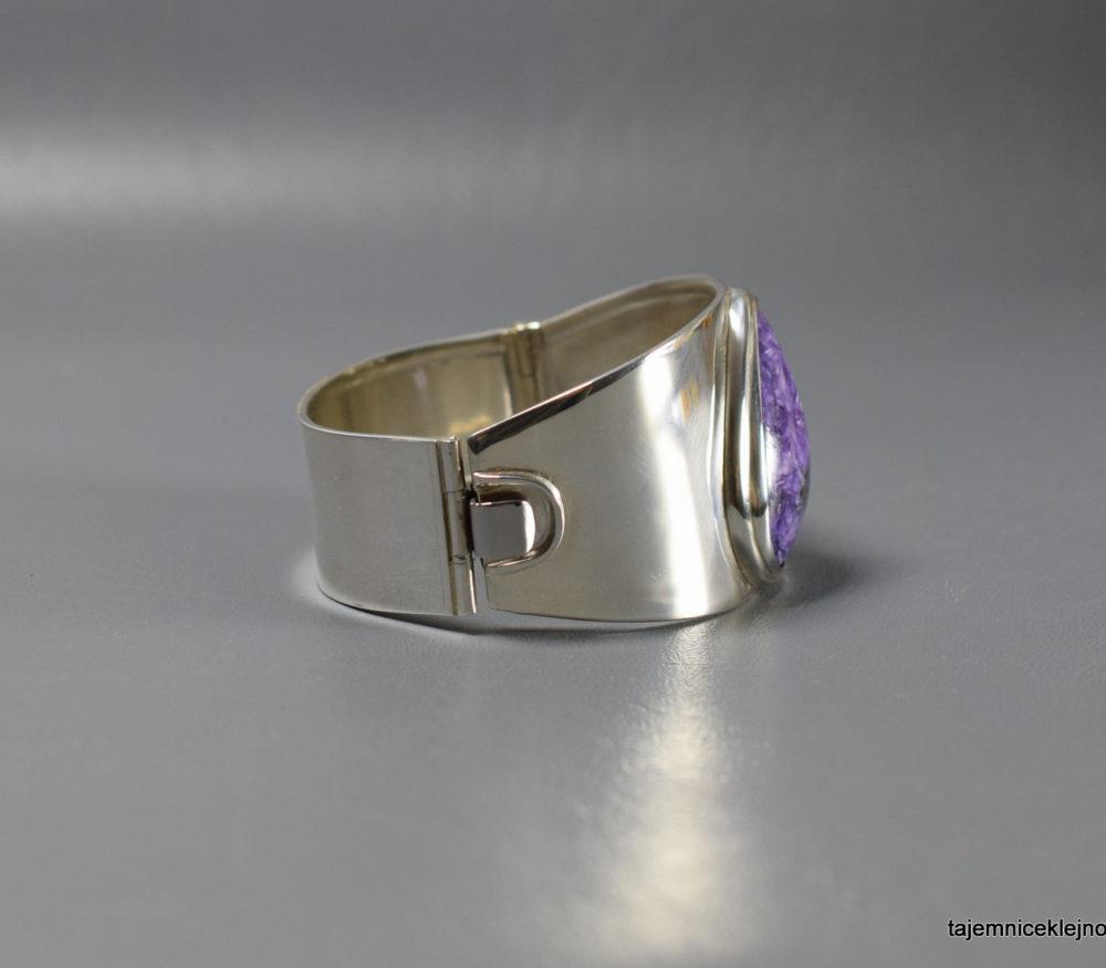 bransoleta srebrna z czaroitem