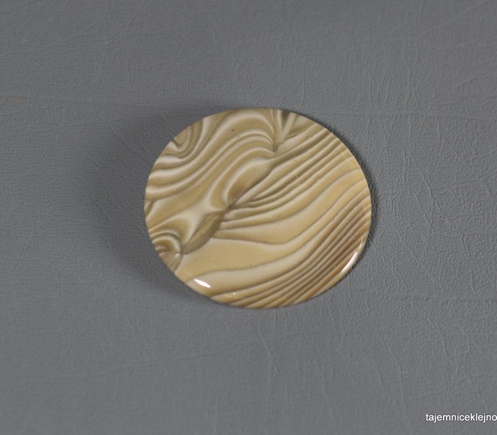 koło z krzemienia pasiastego do oprawy w srebro