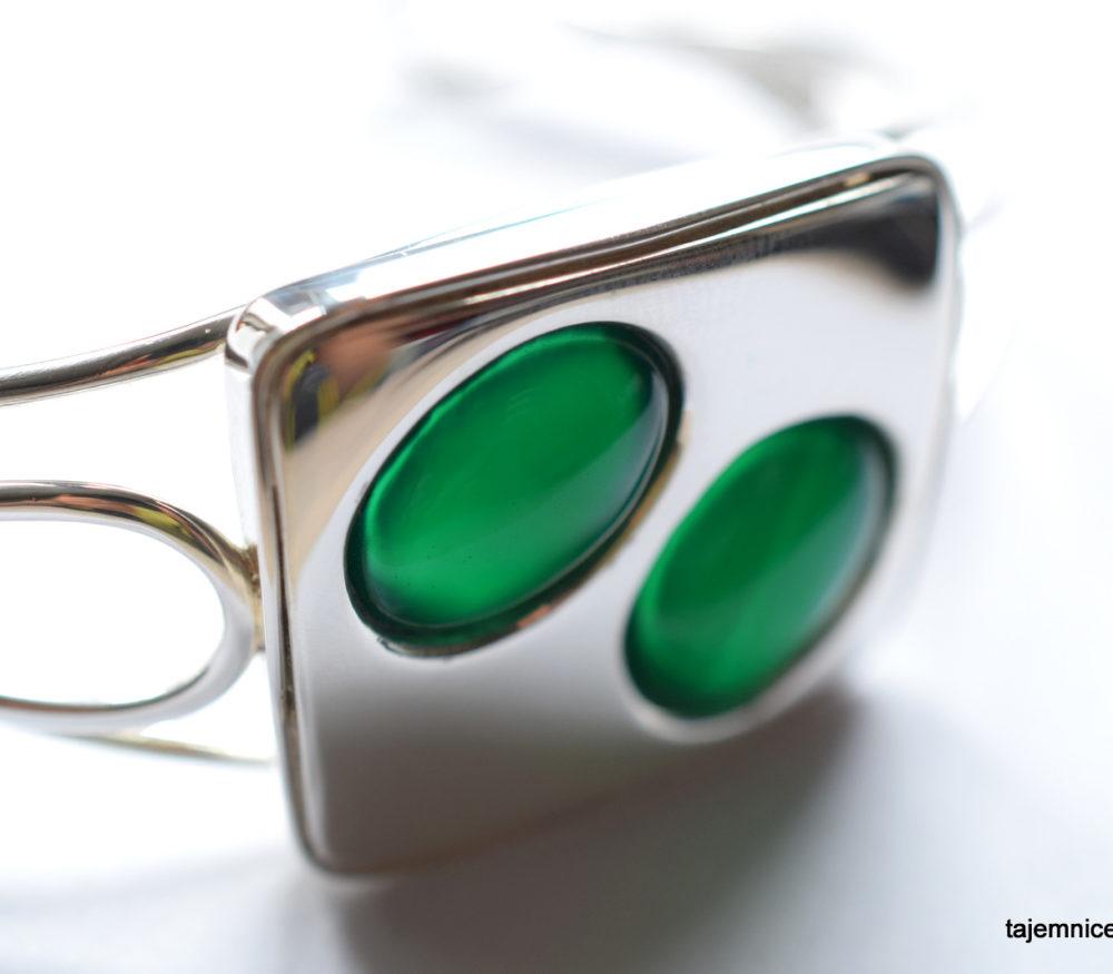 bransoleta z chalcedonami, srebrna