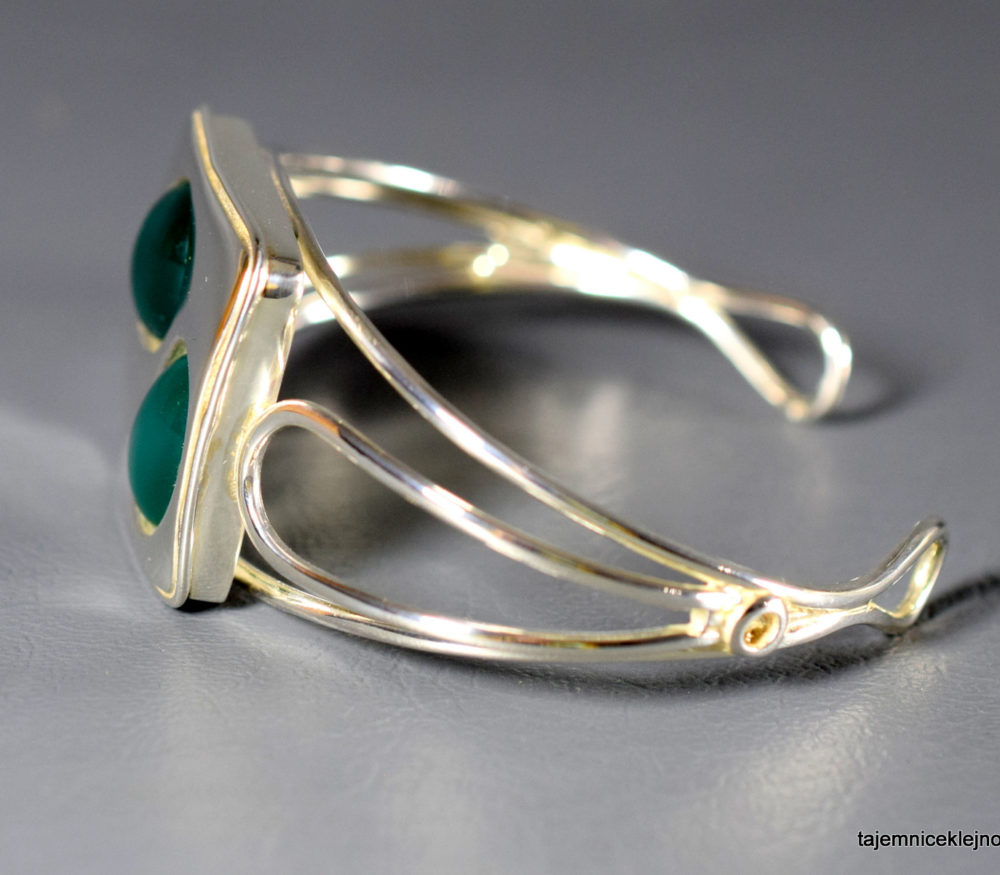 bransoleta srebrna z chalcedonami