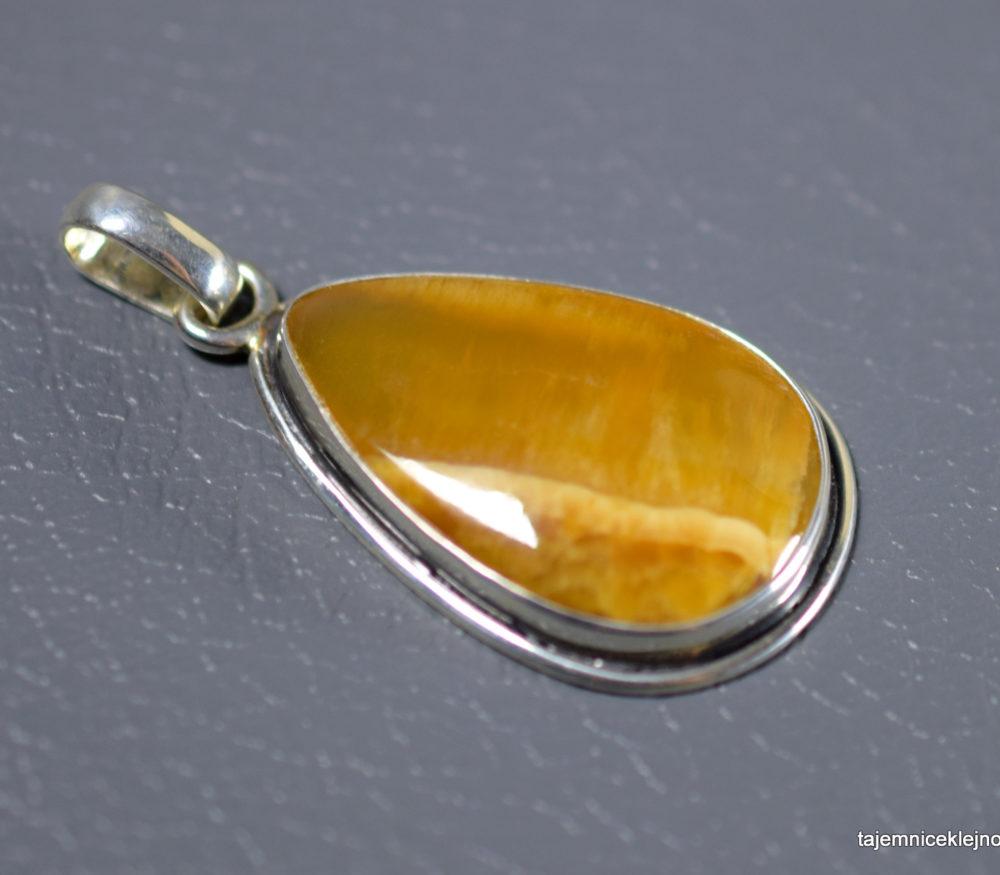wisior srebrny z symbircytem