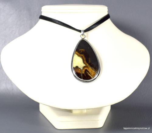 wisior srebrny z symbircytem (kalcytem)