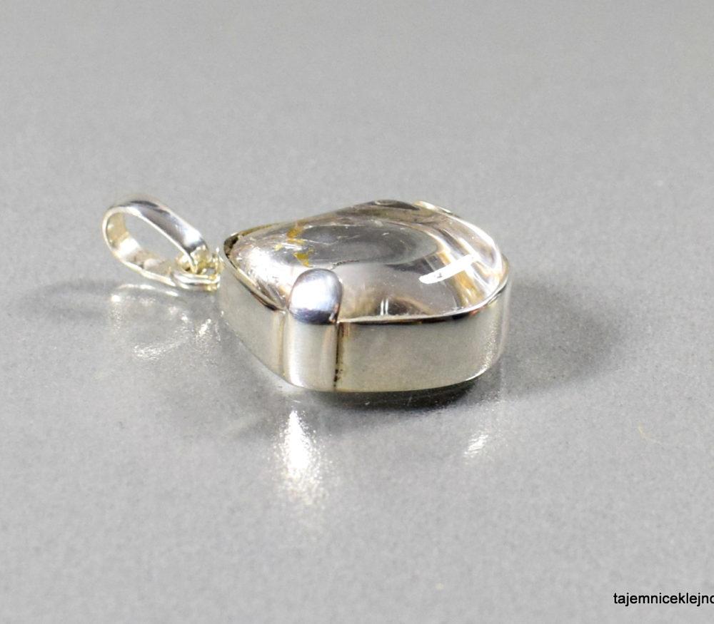 wisior srebrny z kryształem górskim