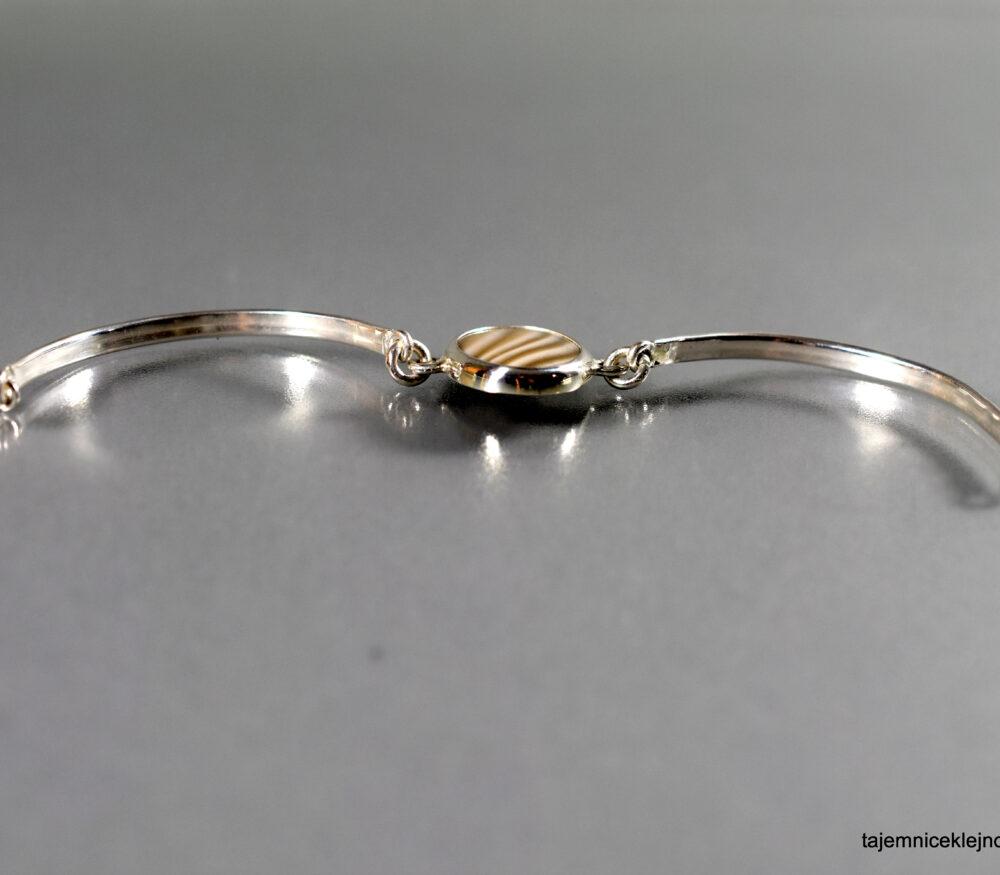 bransoletka srebrna z krzemieniem pasiastym