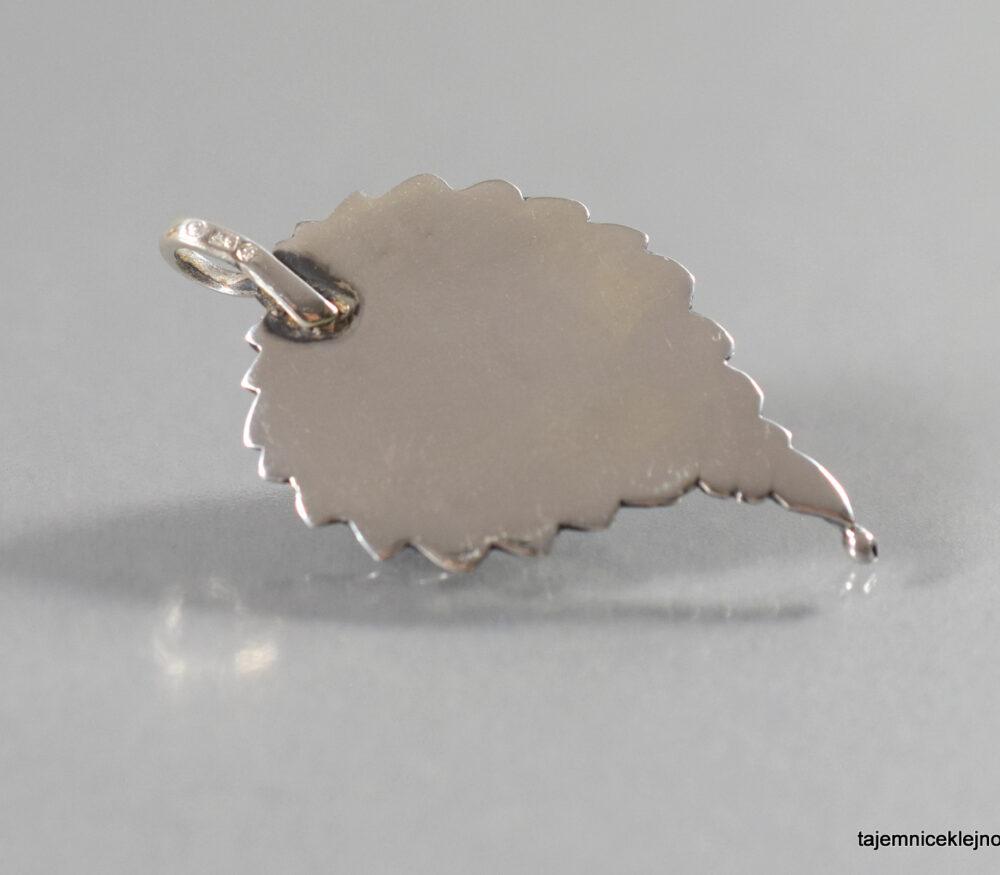 wisior srebrny z ametystem listek