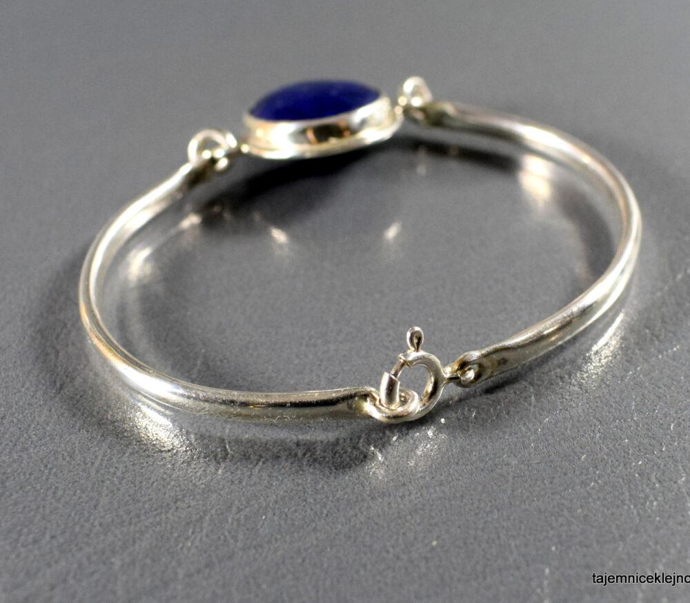 Bransoletka srebrna z lapisem lazuli, handmade