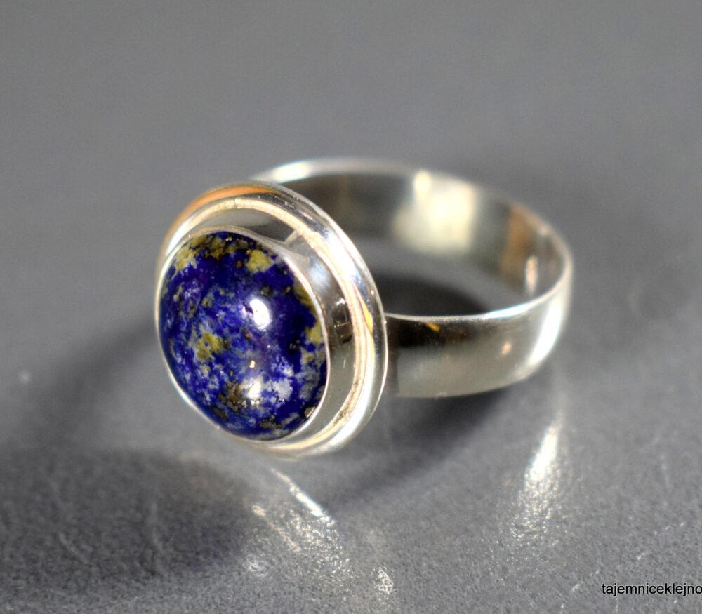 Pierścionek srebrny z lapisem lazuli, handmade