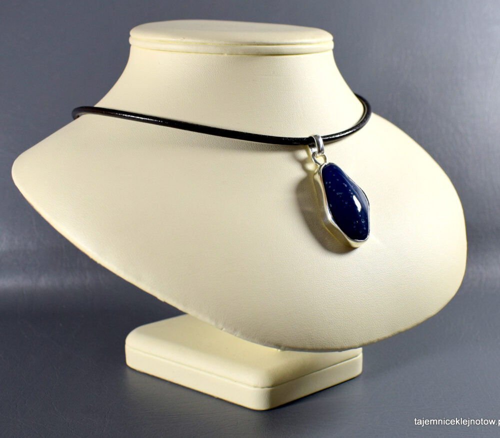 Wisior srebrny z agatem, handmade