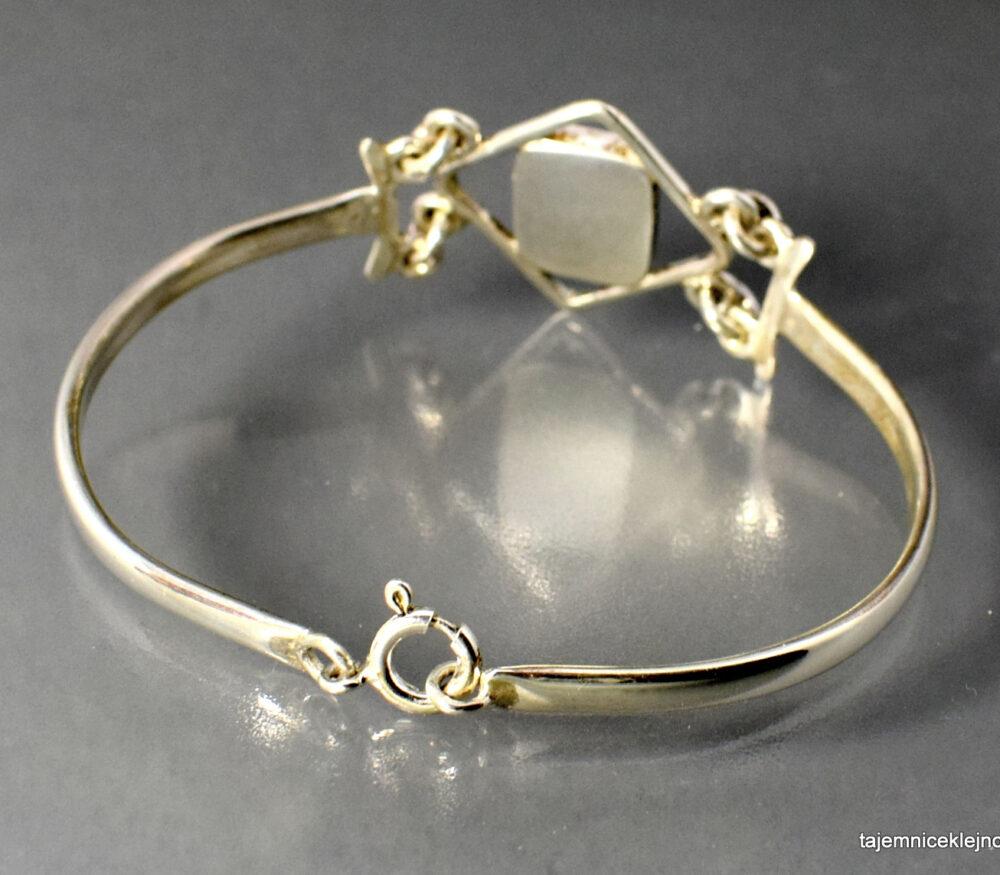 Bransoletka srebrna z azurytem