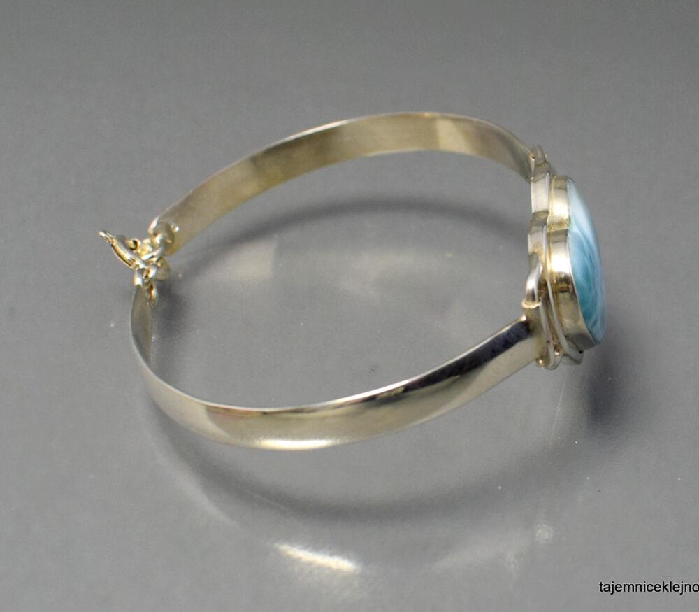 Bransoletka srebrna z larimarem